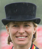 Nadine Capellmann glaenzt in der Mannschafts-Dressur